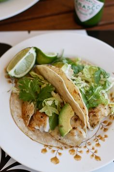 Diced jalapeno peppers add just the right amount of  mild flavor to Grilled Green Fish Tacos.