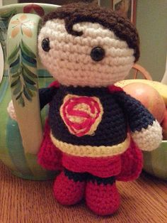 "Superman Doll - Free Amigurumi Pattern - PDF file click ""download"" or ""free Ravelry download"" here: http://www.ravelry.com/patterns/library/amigurumi-superman"