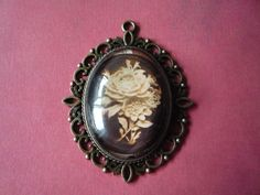 """Antique Flower Pendant 2 1/2"""" by 2"""" by ForeverCreateDesigns on Etsy"""