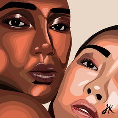Woman Illustration, Illustration Artists, Digital Illustration, Illustrations, Illustrators On Instagram, Black Women Art, The Way You Are, Girl Gang, You Are Beautiful