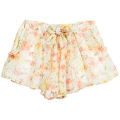 MAYORAL Girls Orange Floral Chiffon Shorts
