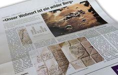 """Die Davoser Zeitung stellt das Buch """"Unser Wohnort ist ein wilder Berg"""" vor."""