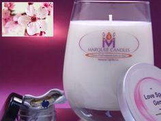 Love Spell (type) Scented Marquee Candle with Fine Jewelry Prize Inside.