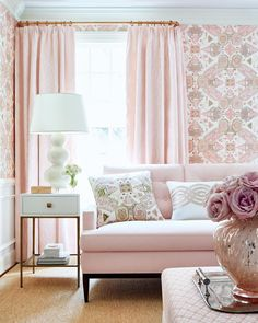 """Thibaut on Instagram: """"Think pink! Persian Carpet's intricate, geometric details and distressed finish truly gives this pattern the illusion of a Persian rug. Our…"""""""