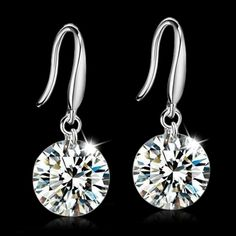 Real 925 Sterling Silver Jewelry Drop Earrings Cubic Zircon Created Diamond For Women Bridal Wedding Party     Tag a friend who would love this!     FREE Shipping Worldwide     Get it here ---> http://jewelry-steals.com/products/real-925-sterling-silver-jewelry-drop-earrings-cubic-zircon-created-diamond-for-women-bridal-wedding-party/    #modern_earrings