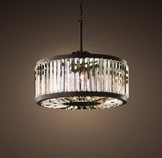 """Welles Clear Crystal Round Chandelier 28"""""""