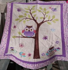 Boutique Quality Purple Owl Baby Quilt by SewSassyNSweet on Etsy, $40.00
