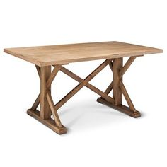 """Bring a bit of the farm into your home with the Farmhouse Rectangle Dining Table. This farm table will add rustic charm to your dining room. It will easily seat 5 to 6 people comfortably. You'll love how this farmhouse table fits in with the rest of your rustic décor. Measures 30""""x36""""x62"""". Assembly is required and tools are provided."""
