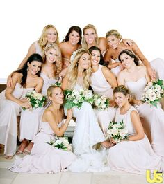 Lauren Conrad and her lovely bridesmaids.