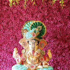 Ganpati Decoration Theme, Ganapati Decoration, Ganesh Chaturthi Decoration, Ganesh Chaturthi Images, Ganesha Drawing, Lord Ganesha Paintings, Shri Ganesh, Krishna, Wedding Stage Decorations