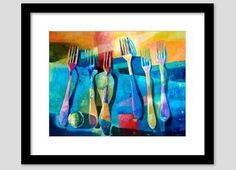 Funny Kitchen Art Kitchen POSTER Kitchen Prints Abstract