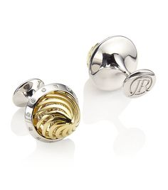 Jack Row Architect gold and diamond cufflinks
