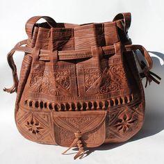 Christmas giftstocking stuffercadeau noel Leather bucket bag