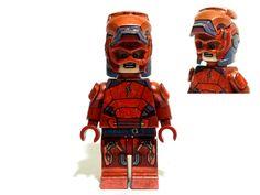 Lego Custom Batman Vs Superman Ezra Miller Flash Armored