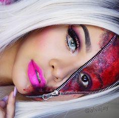 BLUSHO blog: Halloween Makeup - Zipper Face Tutorial