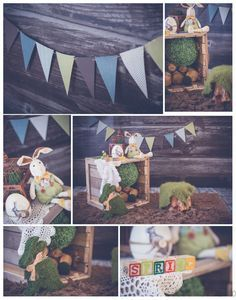 Easter minis set-up, woodland theme