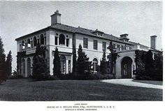 'The Cedars', the H. Bellas Hess estate designed by Howells & Stokes c. 1914.