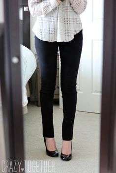 Emer High Waisted Tall Trouser pants from Margaret M - January 2015 Stitch Fix review #stitch fix - cross between leggings and slacks, I would wear these!