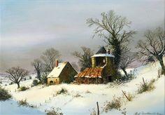 Maison sous la neige von Albert Drachkovitch
