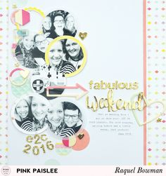 See how Raquel created this bright and fun multi-photo layout in today's post!