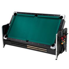 Get three of the most popular game room games in one table with the original 7-foot Pockey 3-in-1 Game Table.  Shoot pool with some friends or easily flip the table for a fast-paced game of air hockey or table tennis with Included table tennis top.
