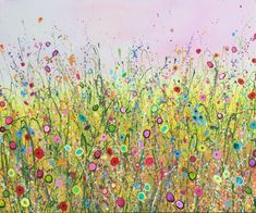 This is The Place I Plant all My Dreams is an original artwork by Yvonne Coomber using oil paint on a canvas surface. #flowerart #wallart #oilpainting #artforinteriors