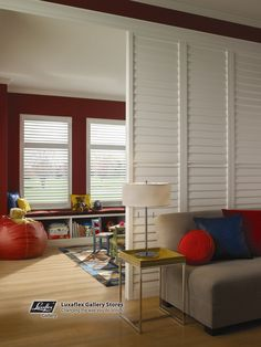 Shutters as a room divider
