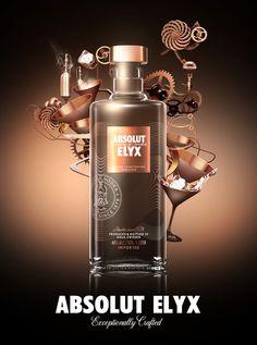 Absolut Elyx es un vodka sueco, de clase Super Premium, con un grado alcohólico del 40%. Se obtiene mediante destilación de granos de trigo seleccionados esmeradamente a mano en alambique de cobre, para después ser mezclado el resultado con el agua más pura.