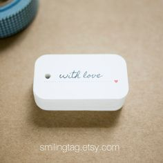 With Love Gift Tags  Wedding Favor Tags  Thank you by SmilingTag, $17.00