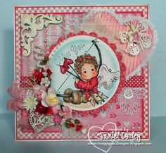 Valentine MISS YOU card using:   Miss you stamp from the Bon Voyage Collection  Tilda with Heart Arrows from the 2013 Love Collection.    For more information jump over to my blog.....  http://scrappyjandesigns.blogspot.com/2013/01/tilda-with-heart-arrows-miss-you-card.html