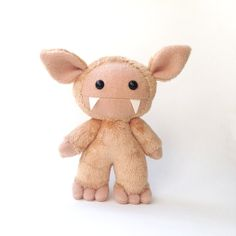 Stuffed cute monster toy Plush monster toy by CreepyandCute