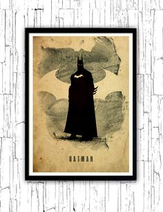 Batman Justice League Minimalist Poster by moonposter on Etsy