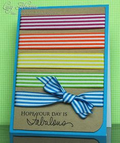 Great way to use ribbon
