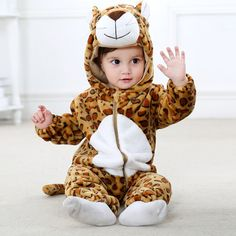 1d2e7a3a9bd86 Leopard Baby Boys   Girls Animal Onesies Cute Costume High Quality Baby  Leopard