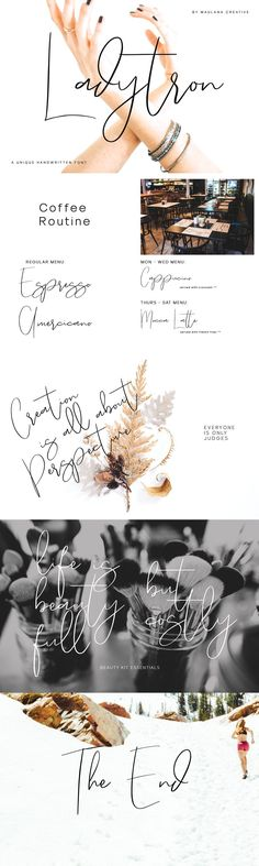 "Give your designs an authentic handcrafted feel. ""Ladytron Script"" is perfectly suited to signature, stationery, logo, typography quotes, magazine or book cover, website header, clothing, branding, packaging design and more. License: This font included for personal, commercial use, multiple projects, behalf of a client. Fonts may be printed on to products that are subsequently sold, websites and within website design. Graphics may be printed on to... Clothing Branding, Website Header, Script Logo, Typography Quotes, Packaging Design, Your Design, Commercial, Stationery, Graphics"