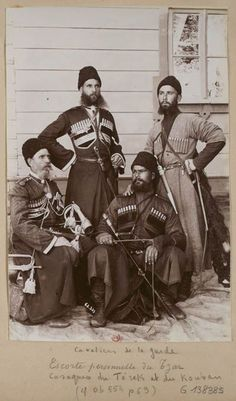 Four members of the Tsar's Imperial Russian Cossack bodyguard