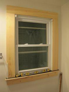 DIY Window Trim  Butt Joint Along The Top.
