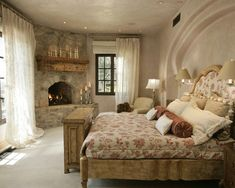 Beautiful bedroom... the fireplace...WoW
