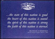 by Franklin D Roosevelt