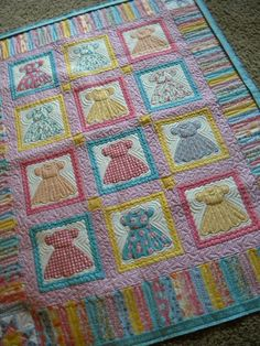Gallery of Inspiring Ideas for Baby Boy Quilts | Doll quilt, Dolls ... : doll dress quilt - Adamdwight.com