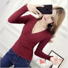 Lisipieces-Slim Long Sleeve Knitted Sweater