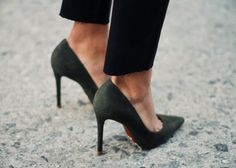 Lower-priced pumps look more posh in faux suede than faux leather. -------------------------- 11 Style Tips For The Girl On A Shoestring Budget via High Heels Boots, Suede Heels, Shoe Boots, Shoes Heels, Heels Outfits, Pointed Heels, Flat Shoes, Cute Shoes, Me Too Shoes