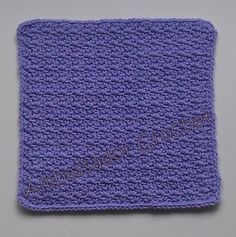 Wattle Stitch Afghan Square Free Crochet Pattern