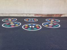 We have just completed installing playground markings at St peters school in Durham