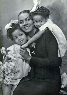 A Mother and her daughters late 1940s
