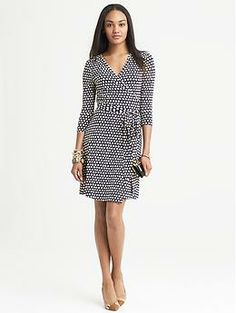 Had to get this one too:/ Gemma Printed Wrap Dress   Banana Republic