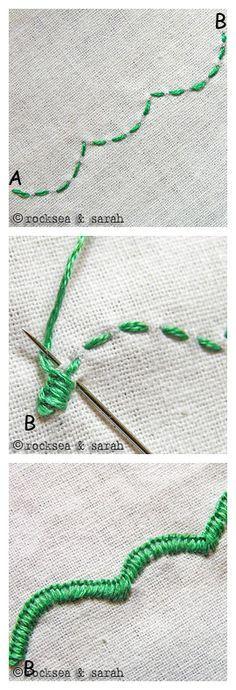 Embroidery Edge Stitch - 刺绣13-17