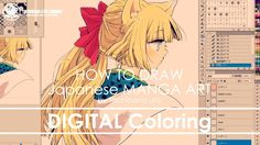 ✔ Digital Painting - St.2 Coloring | How to draw Manga Art 2017.10.06