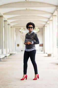 How to wear gingham and leopard | Mixing Prints | Print Mixing | Fall Style
