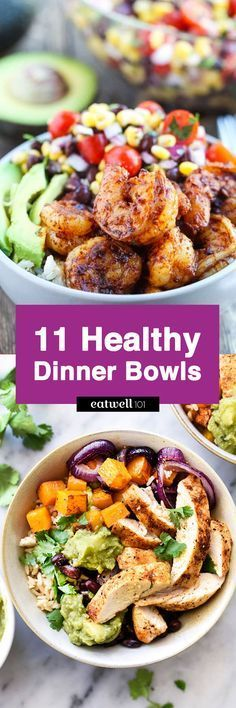 Want a speedy, nutritious dinner with minimal clean up? Healthy dinner bowls offer a nourishing combination of good-for-youingredients that pack up on flavor. We've rounded up 11 colorful recipes …